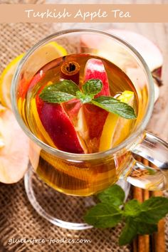 While doing some research on Turkey for a themed tea party, I learned thatapple teais a common beverage in that country where it seems to be...
