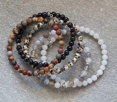 Handmade semi precious stone; nice colors