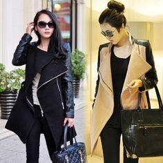 $31.00 | Fashion street fight skin coat sleeve woolen coat PL0119DE