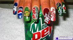 drink nail art