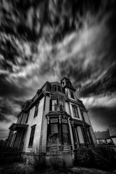 See more Haunted Houses For Sale, Haunted Houses In America, Gothic Art, Victorian Gothic, Victorian Homes, Haunted Places, Dark Wood, Amazing Nature, Old Houses