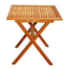 ⚜️ Add charm to your home with LuuNguyen Outdoor Hardwood Folding Table(Natural Wood Finish) from Metal Picnic Tables, Metal Side Table, Solid Wood Dining Table, Outdoor Tables, Patio Tables, Outdoor Spaces, Porch Table, Side Tables, Mesa Exterior