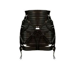 Bondage waspie by Bordelle featuring polyvore, women's fashion, clothing, skirts, intimates and bordelle