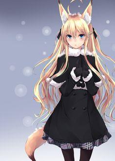 Neko-chan Gato Anime, Anime Neko, Kawaii Anime Girl, Manga Anime, Anime Girls, Anime Wolf Girl, Manga Girl, Neko Girl, Fox Girl