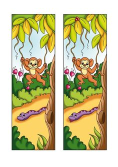 Illustration about Illustration, colored with photoshop of a game for children. You find the 5 differences among the two scenes. Illustration of game, flowers, jungle - 13167954 Spot The Difference Kids, Find The Differences Games, Mazes For Kids, Different Signs, Toddler Learning, Worksheets For Kids, Zoo Animals, Kindergarten, Fun Crafts