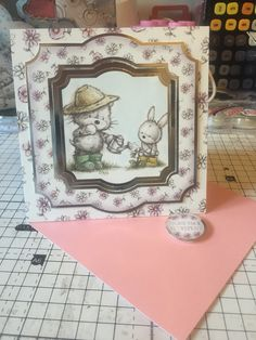 Hunkydory Smudge and Mitten Card - Retirement
