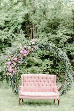 Boasting a romantic, organic style, these pink and navy wedding ideas are everything! The most exquisite details were captured beautifully by Cassidy Alane Photography, and the lush, organic florals by Floral V Designs were absolutely breathtaking. Fox Wedding, Elegant Wedding, Summer Wedding, Wedding Flowers, Floral Arch, Ceremony Arch, Wedding Designs, Wedding Ideas, Types Of Flowers