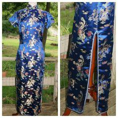 Selling this Silk Vietnamese tunic long dress in my Poshmark closet! My username is: littlebitshier. #shopmycloset #poshmark #fashion #shopping #style #forsale #Dresses & Skirts