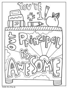 Our Principal Is Awesome Coloring Page Principals Day