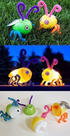 5 geniale DIY-Ideen für Kinder Mamaaa, I'm bored! This sentence will certainly look familiar to you. Here are five simple DIY ideas that you can implement with your children … Bug Crafts, Quick Crafts, Summer Crafts For Kids, Easter Crafts For Kids, Crafts To Do, Projects For Kids, Diy For Kids, Craft Projects, Craft Ideas