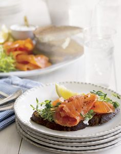 Served for a brunch, a picnic lunch, or a dinner party, the ever-versatile sandwich is summer's answer to simple outdoor entertaining. Recipe: Smoked Salmon Toast   - CountryLiving.com