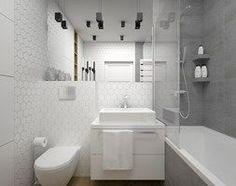 ŁAZIENKA - 5 m2 - Mała łazienka w bloku w domu jednorodzinnym bez okna, styl minimalistyczny - zdjęcie od BIG IDEA studio projektowe