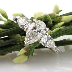 2.21ct Pear Shape Diamond Engagement Anniversary Ring