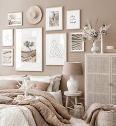 Feelin' fine and in bed by nine Room Ideas Bedroom, Home Decor Bedroom, Living Room Decor, Design Bedroom, Aesthetic Room Decor, My New Room, Nature Posters, Beige Walls Bedroom, Beige Bedrooms