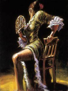 Flamenco Dancer in Green.