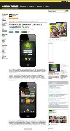 Título: Winaminute promove concursos fotográficos no iOS; Veículo: Portal MacMais; Data: 20/02/2013; Cliente: Incube.