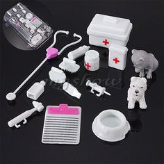 14Pcs Mini Medical Equipment Toys For Barbie Fashion Accessories Doll Set Gifts