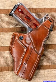 FBI Leather Gun Holster Belt Holster Style for Springfield 1911 Professional Pistol 1911 Leather Holster, 1911 Holster, Pocket Holster, Custom Leather Holsters, Pistol Holster, 1911 Pistol, Paddle Holster, Western Holsters, Leather Projects