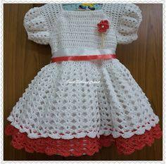 Sweet Nothings Crochet Easy Layered Baby Dress