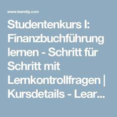 Studentenkurs I: Finanzbuchführung lernen - Schritt für Schritt mit Lernkontrollfragen   Kursdetails - Learnity