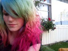 My faded rainbow hair.