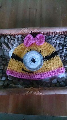 Girls Crochet Minion Hat by crochetcraziehand on Etsy