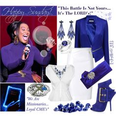"""HAPPY SUNDAY & HAPPY BLACK MUSIC MONTH!!! with Yolanda Adams"" by enjoyzworld on Polyvore"