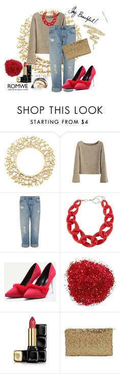 """""""Romwe II 3/10"""" by dinna-mehic ❤ liked on Polyvore featuring Kim Seybert, J Brand, DIANA BROUSSARD, Guerlain, Chanel, Urban Decay and romwe"""