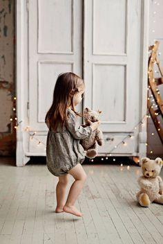 Handmade Linen Baby Toddler Romper | Lapetitealice on Etsy