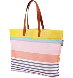 fbe6fb796f8 Heading to the beach on a sunny day with this breezy mesh tote with easy  over