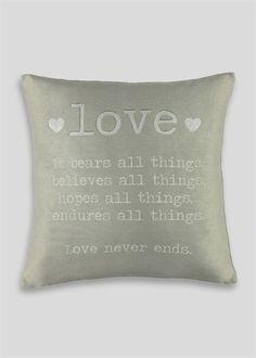 Love Slogan Cushion (48cmx 48cm)