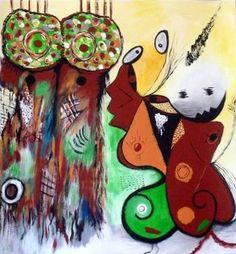 "Saatchi Art Artist Concha Flores Vay; Painting, ""NO SOMOS IGUALES"" #art"