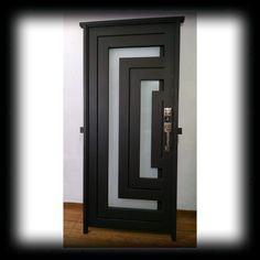 Bedroom Door Design, Door Gate Design, Door Design Interior, Balcony Grill Design, Window Grill Design, Modern Exterior Doors, Modern Front Door, Wrought Iron Decor, Front Doors With Windows