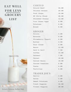 Eat Well For Less Grocery List: How we eat well without spending a fortune. Grocery shopping | healthy eating | family budget |