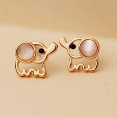 Women Men Rose Gold Elephant Stud Earrings White Pink Rinestone Cat Eye Stone Fashion Jewelry Accessories Pendientes♦️ SMS - F A S H I O N 💢👉🏿 http://www.sms.hr/products/women-men-rose-gold-elephant-stud-earrings-white-pink-rinestone-cat-eye-stone-fashion-jewelry-accessories-pendientes/ US $0.52