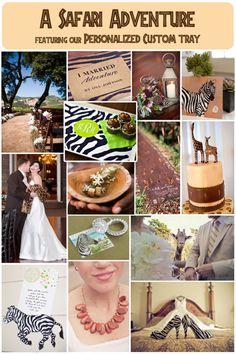 Safari Themed Wedding Theme. Animal Print Wedding Details