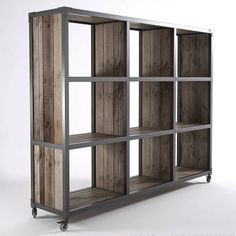 Quirky. Rustic. Industrial. 100% recycled teak and steel frame on casters