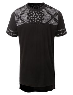 Keep up with the latest urban fashion in this hipster hip hop bandana print t-shirt. Crafted from a lightweight and soft cotton material for all day comfort. Pair this tee with jeans for a daily casua