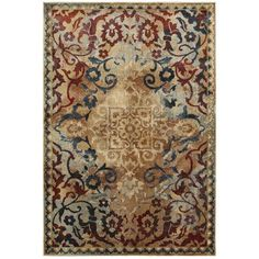 Gold Red Oriental Rug
