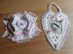 Little bow card and heart