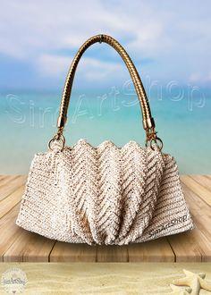 #crochet #crocheted #crochetbag #crochetclutch #crochetshoulderbag #shellbag #scallopbag #fanbag #crochethandbag #crochetstrawbag #glittergoldbag #wovenbag #summerbag #bohostyle #uniquebag #raffiabag #bags #bagsandpurses #onlinebags #freeshipping #handbags #ecrubag #weddingbag #beachwedding #simartshop #crochetart #giftformother #giftforher #simartshop Beach Accessories, Women Accessories, Fashion Accessories, Crochet Bags, Crochet Gifts, Straw Handbags, Etsy Jewelry, Etsy Handmade