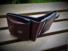 Купить Мужской кошелек из кожи - портмоне из кожи, мужской кошелек из кожи, кошелек ручной работы