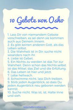 10 Gebote von Osho | Seelen Botschaften