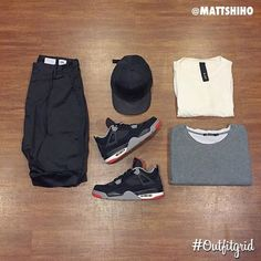 Today's top #outfitgrid is by @mattshiho. ▫️#JoinChapter #Shorts ▫️#byH #Hat ▫️#ADYN #Tee ▫️#AlexanderWang #flatlay #flatlayapp #flatlays