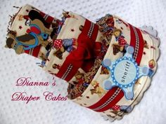 Baby Diaper Cakes Cowboy Country Boys or Girls Baby Shower Gift