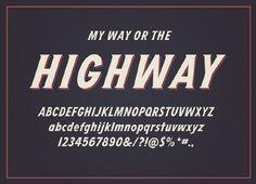 Highway Typeface - DAN CASSARO - YOUNG JERKS - Design/Animation/Illustration