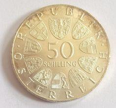 AUSTRIA 1969 50 SHILLINGS MOEDA DE ..