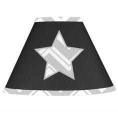 Sweet Jojo Designs Zig Zag Lamp Shade in Grey/Black - buybuyBaby.com