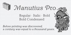 Manutius Pro™ font download