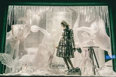 Bergdorf Goodman skipped the season's Christmas trees and winter wonderland window-scapes in favor of something a bit more…creative. This year, the department store dedicated each of its picture windows to an art form—from music (where a tower of shiny brass instruments reflects glittery eveningwear) to painting (where a hand-painted Dolce & Gabbana gown takes center stage) to theater (where a Broadway-ready mannequin hams it up in front of a mid-century marquee).